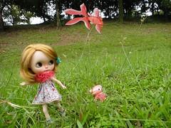 A girl, a tengallon and a kite