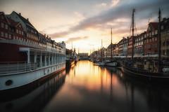 Nyhavn, Copenhagen (pixiepeeper) Tags: sunset water copenhagen denmark nyhavn boat sony smooth dnemark kopenhagen a99 regionhovedstaden sal1635f28z