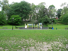 Morningside Park Playground (jschumacher) Tags: nyc wet morningsidepark