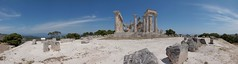 Side view of Temple of Aphaia (Kostas Trovas) Tags: panorama architecture ancientgreece aegina greektemple aphaia aphaea