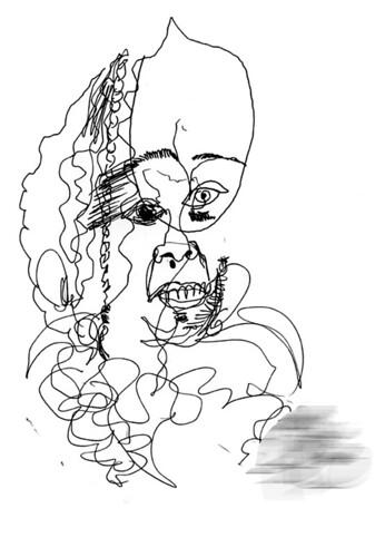 """visiteur 11<br /><span style=""""font-size:0.8em;"""">Dessin à l'aveugle et pour lequel j'ai posé<br />Serial Portrait</span> • <a style=""""font-size:0.8em;"""" href=""""http://www.flickr.com/photos/12564537@N08/8951601694/"""" target=""""_blank"""">View on Flickr</a>"""
