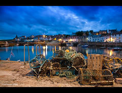 St Monans Harbour, Fife (Kit Downey) Tags: longexposure blue summer 3 seascape water june st night canon landscape harbor scotland twilight fishing long exposure village harbour fife dusk mark iii scottish hour l 5d kit usm f28 ef downey 2470mm monans 2013