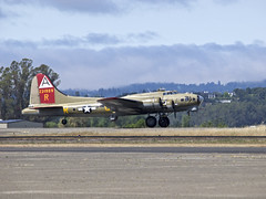 B-17 909 Tail up on Takeoff (Argon's Art) Tags: historic sonomacounty dday vintageaircraft collingsfoundation historicaircraft sonomajetcenter b17909