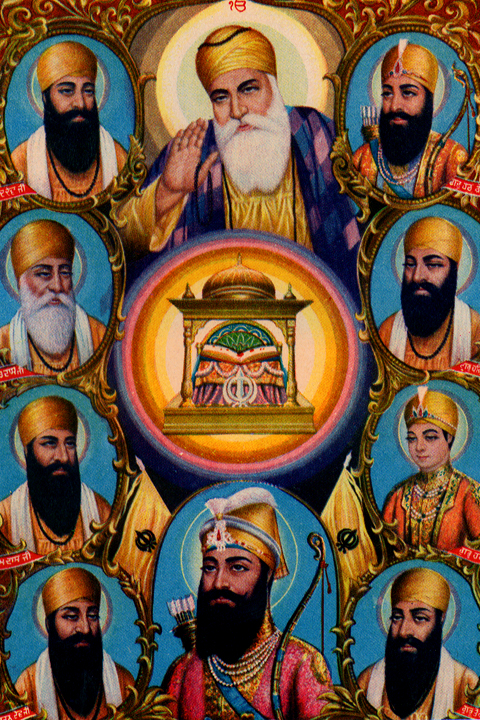 history and experience of the sikh Guru nanak converses with muslim clerics, from a manuscript of the janam sakhi (life stories), 1800–1900 india or pakistan punjab region opaque watercolors on paper.