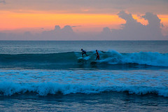 Surfers at Legian Beach (AlfonsT) Tags: bali beach indonesia kuta legian