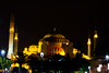 Haghia Sofia-2642 (Lilian Levesque) Tags: travel blue light tourism monument night turkey worship asia europe sofia minaret muslim islam istanbul mosque tourist turquie sight turquia worshiper haghia