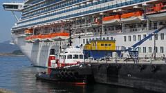 Seaspan Cavalier ~ Ogden Point (Chris City) Tags: victoria cruiseship tugboat tug barge seaspan ogdenpoint princesscruises grandprincess