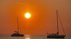 Sunset in Cefalu' (lsbardel) Tags: sunset red italy see boat sicily cefal