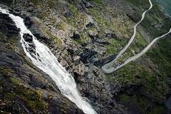 Stigfossen (Youronas) Tags: road water norway rock norge waterfall rocks bend skandinavien rocky norwegen 7d scandinavia foss trollstigen mountainroad fossen stigfossen 1585 stigfoss canon7d canon1585 trollsladder isterdal