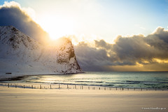 Unstad Beach, Lofoten (Martin Sojka .. www.VisualEscap.es) Tags: sea snow storm beach norway lofoten unstad