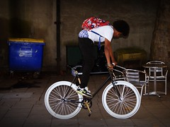 black and white (pix-4-2-day) Tags: bicycle fixie bristol black white boy artistic stunt trick pix42day