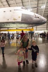 family portrait fail (dolanh) Tags: lucas renee spaceshuttle expositionpark zooey californiasciencecenter endeavour spaceshuttleendeavour samueloschinpavilion