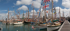 OGA Jubilee Festival Cowes 2013 (leightonian) Tags: uk island boat sailing unitedkingdom flags isleofwight solent gb gaffer isle cowes dressed wight iow oga oldgaffersassociation dressedallover