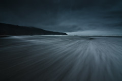 Cape Lookout (Alan Drake) Tags: ocean longexposure blue sea sky abstract colour beach nature water rain fog night oregon digital landscape sand nikon exposure dusk naturallight wideangle nd ndfilter d7000
