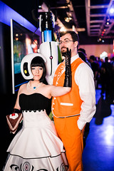 Classy Portal 2 (Knight725) Tags: cosplay incredible chell classy d800 portal2 bounceflash sigma35mmf14 glados sb700 paxprime2013
