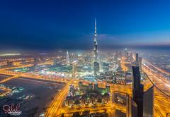 Dubai - Burj Khalifa At blue hour ( Saleh AlRashaid / www.Salehphotography.net) Tags: dubai cityscape uae emirates khalifa burj saleh alrashaid d800e