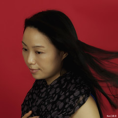 Home Portrait #2 (Ken Goh thanks for 2 Million views) Tags: lighting red portrait black home lady female studio women pentax background sigma backdrop 70200 softbox f28 k5iis