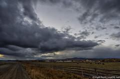 IMGP7658-Edit (Matt_Burt) Tags: ranch sky snow storm field clouds fence town colorado cattle cows pasture western livestock grazing graze gunnison ranching