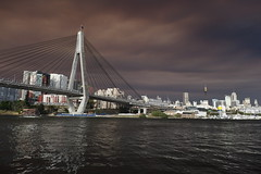 X100S (KenBelMore) Tags: bridge smoke sydney australia fujifilm sydneyharbour anzacbridge fujix100s x100s