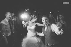 Sparkling away... (ZekaG) Tags: blackandwhite night canon fun fire 50mm couple fireworks theend sparklers exit walkingaway weddingphotographer lasttime loomiscalifornia sacramentowedding lixximphotography flowerfarminn