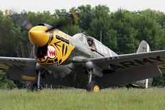 IMG_5596 - P-40 Kittyhawk - Old Warden - 04.06.06 (Colin D Lee) Tags: usa army us fighter wwii airshow ww2 usaf shuttleworth warbirds kittyhawk curtis worldwar2 secondworldwar p40 warhawk oldwarden