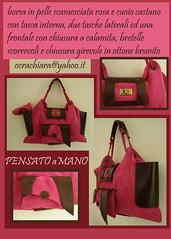 borsa rosa cuoio