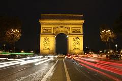 L'arc de triomphe (PhotosByPhil) Tags: longexposure nightphotography paris canon eos symmetry symmetrical lighttrails larcdetriomphe canonrebeleos canonphotography longexposurenightshot photosbyphil canoneos550d canoneosrebelt2i parisafterdark