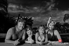 Happy Snorkelers (Thūncher Photography) Tags: family portrait bw monochrome swimming island hawaii blackwhite nikon faces maui snorkeling tropical wailea ohana d700 nikond700 afsnikkor1635mmf4gedvr thephotographyblog