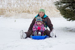 Sled Riding 2013-17 (TheDarrenSharp) Tags: winter evelyn mackie 3yearsold sledriding
