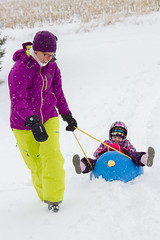 Sled Riding 2013-7 (TheDarrenSharp) Tags: winter evelyn bern 3yearsold sledriding