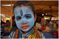 Little Mahadev. (biyasc) Tags: street travel people india kid nikon god mela mahadev santiniketan