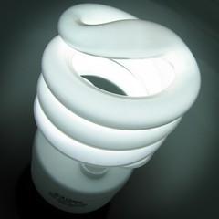 The medium is the message (uncoolbob) Tags: macro lightbulb digital square curves gimp crop coiled energysavinglightbulb canonpowershotsx110is