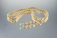 birthstone bracelet (mizgeorge) Tags: uk handmade jewellery bracelet etsy emerald jpl goldfilled jenspind bygeorge mizgeorge