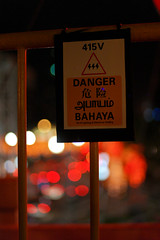 Warning Sign (Rickloh) Tags: warning lights bokeh rick samsung warningsigns nx mirrorless beyondbokeh nx11 rickloh nxsg