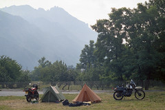 small motorcycles and big mountains (ho_hokus) Tags: france motorcycle 1986 motorcycletouring rhonealpes saintjeandemaurienne