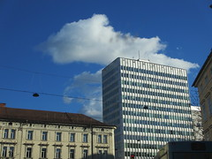Architectural contrast and cloud, Ljubljana, Slovenia (Paul McClure DC) Tags: architecture historic slovenia ljubljana slovenija feb2014