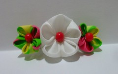 3_flower_barrette_by_eruwaedhielelleth-d72qkbg (EruwaedhielElleth) Tags: flowers hair japanese pin clip maiko ornament fabric hana geisha accessories folded tsumami kanzashi zaiku imlothmelui