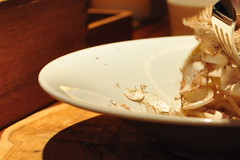 pasta with ground mushrooms and bacon (joone!) Tags: b japan mushrooms osaka fujiya baconpasta