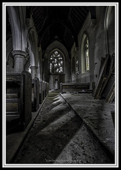 The Church. (Simon Rich Photography) Tags: old windows abandoned church stone architecture religious shadows god decay debris dirt seats dust pews hdr simonrich derelick mrmonts simonrichphotography
