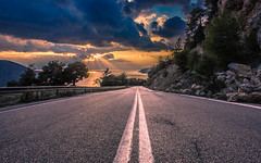 Driving to heaven (Vagelis Pikoulas) Tags: blue trees light sunset sea sky sun mountain mountains west colour reflection tree green beach rock clouds canon landscape eos spring kiss rocks europe day niceshot view cloudy greece porto western 1855mm x4 2014 attiki vilia germeno 550d abigfave colorphotoaward mygearandme kithairwnas ringexcellence musictomyeyeslevel1