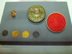 Items related to Richard III (pefkosmad) Tags: museum angel coins exhibition gloucestershire ring seal gloucester richardiii groat dukeofgloucester gloucestermuseum