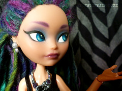 Goth Maddie? (monster marionette) Tags: maddie high doll ooak after custom ever mattel hatter repaint eah madelein