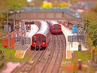[explored] It's a model Tube Station at Epping. 06 04 2014 tiltshift