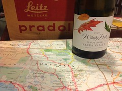 Had a slide show again with the Pradolux projector.. (spelio) Tags: travel desert map australia email act wetzlar ipad 2015 leitz