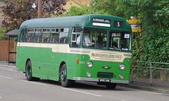 DB811.  AEC Reliance. (Ron Fisher) Tags: uk greatbritain england bus green pentax unitedkingdom transport gb publictransport farnborough reliance aec pentaxkx aecreliance aldershotdistrict farnboroughbusrunningday
