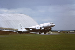 DC4 (scanned slide) (feroequineologist) Tags: aircraft duxford dc4