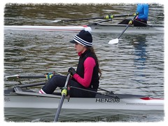 Rowing on the  River Thames (jas.mann-real life photos-no photoshopping) Tags: hot cold water olympus canoe rowing digitalcamera riverthames oars practise leadinglines traning bridgecamera henleyrowingclub olympusstylus1 stylus1 hen298 girlinbobblehat