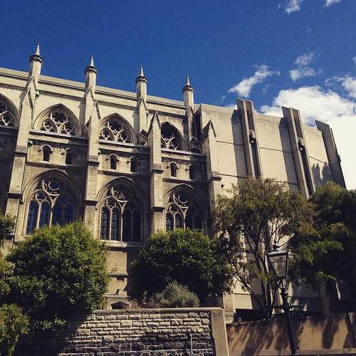 The church extension made from besser bricks. Stay classy, Dunedin.