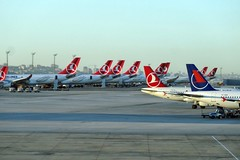 SUNSET ON IST AIRPORT (airlines470) Tags: sunset airport airlines ist turkish thy