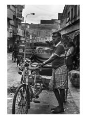 Rickshaw (Jayanth Anuranjan) Tags: people bw india black market rickshaw chennai incredible cwc parrys mychennai walk415